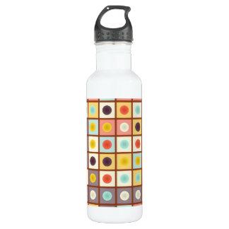 Gepunktetes geometrisches Muster Trinkflasche