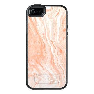 Gepunktetes weißes u. hellorangees OtterBox iPhone 5/5s/SE hülle