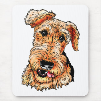 Gerade Airedale Terrier Mousepad