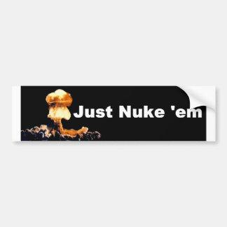Gerade Autoaufkleber Kernwaffe-EM