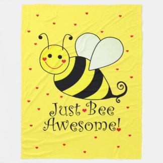 Gerade Bienen-fantastische gelbe Fleecedecke