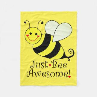 Gerade Bienen-fantastische gelbe Hummel-Biene Fleecedecke