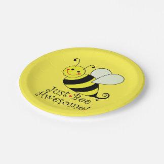Gerade Bienen-fantastische gelbe Hummel-Biene Pappteller