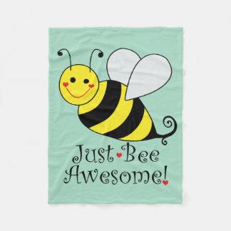 Gerade Bienen-fantastische Hummel-Biene Fleecedecke