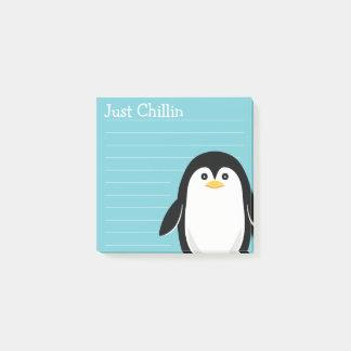 Gerade Chillin Baby-Pinguin Post-it Klebezettel