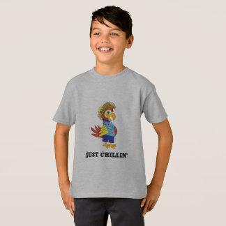 Gerade Chillin Insel-Papageien-T - Shirt