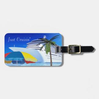 Gerade Cruisin durch den Strand Kofferanhänger
