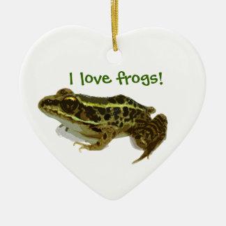 Gerade ein Frosch Keramik Ornament