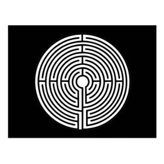 Gerade ein Labyrinth-Rundschreiben Postkarte