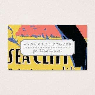 Gerade ein langer Schritt zur Seeklippe Visitenkarten