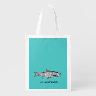 Gerade eine gewöhnliche Fischeinkaufstasche Wiederverwendbare Einkaufstasche