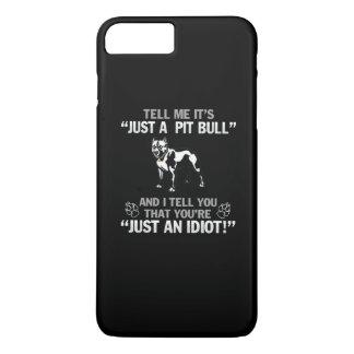 Gerade eine Pitbull iPhone 8 Plus/7 Plus Hülle