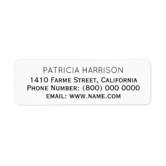 gerade einfache u. saubere Adresseninformationen