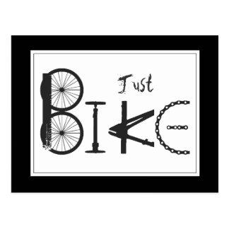"""Gerade Fahrrad-"" Graffiti von den Fahrrad-Teilen Postkarte"