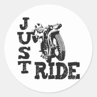 Gerade FahrVintage Motorräder Runder Aufkleber