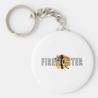 Gerade Feuerwehrmann Schlüsselanhänger