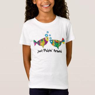 Gerade Fishin um   abstrakt T-Shirt