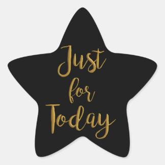 Gerade für Schritt-Erholung Taggoldzitat OM-Na 12 Stern-Aufkleber