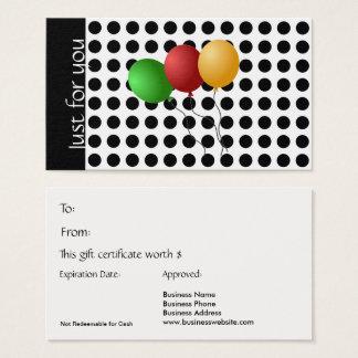 Gerade für Sie Geschenk-Karten-Schwarzweiss-Tupfen Visitenkarte