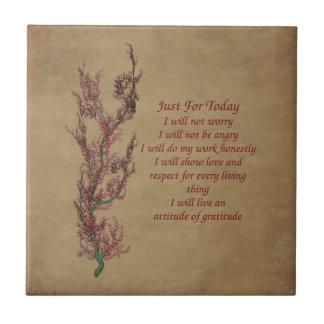 Gerade für Tag-Blumen-Inspirational Gebet Kleine Quadratische Fliese