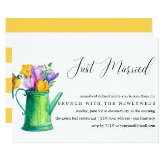 Gerade geben verheiratetes Bündel Blumen Hochzeit Karte