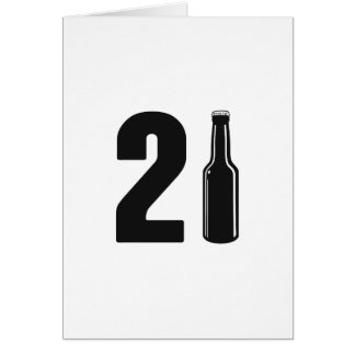 Gerade gedrehter 21 Bierflasche-21. Geburtstag Karte