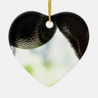 Gerade hängende Pythonschlange Keramik Ornament
