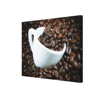 Gerade Kaffee Leinwanddruck