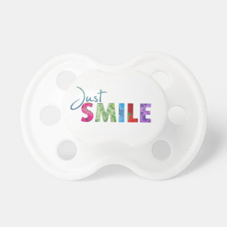 Gerade Lächeln-glückliches Zitat 01 Schnuller