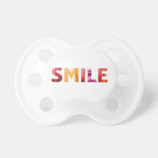 Gerade Lächeln-glückliches Zitat 04 Schnuller