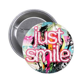 gerade Lächeln Runder Button 5,7 Cm