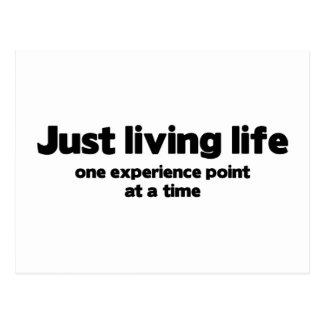 Gerade lebender Erfahrungs-Punkt des Leben-eins Postkarte
