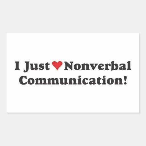 Gerade nonverbale Kommunikation der Liebe I! Rechrteckaufkleber