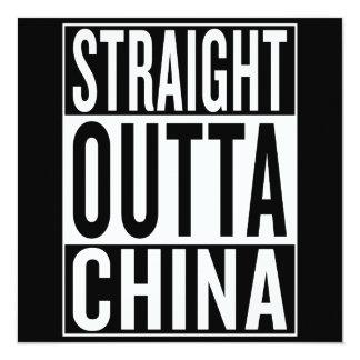 gerade outta China Karte