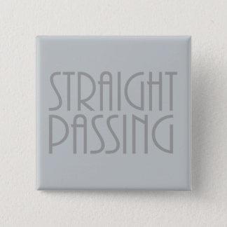 Gerade überschreiten quadratischer button 5,1 cm