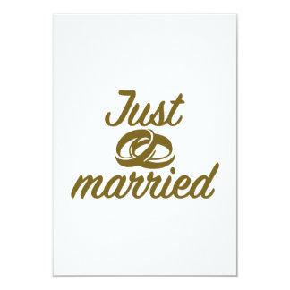 Gerade verheiratet 8,9 x 12,7 cm einladungskarte