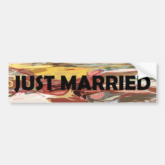 Gerade verheiratet autoaufkleber
