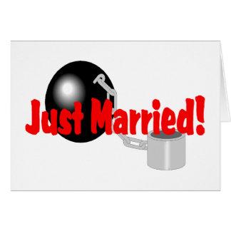Gerade verheiratet (Ball und Kette) Karte