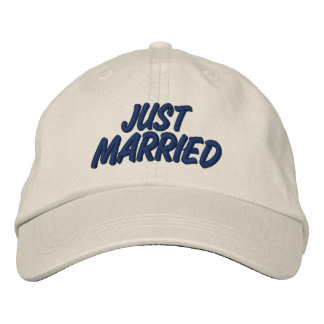 Gerade verheiratet bestickte baseballkappe