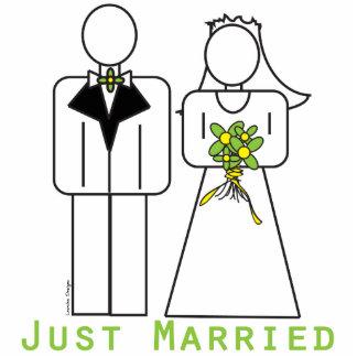 Gerade verheiratet freistehende fotoskulptur