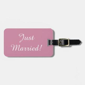 Gerade verheiratet gepäckanhänger