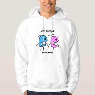 gerade verheiratet hoodie