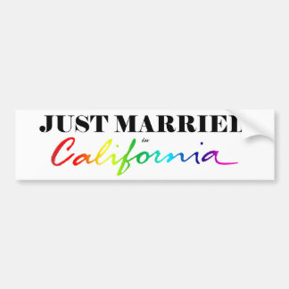 Gerade verheiratet im autoaufkleber