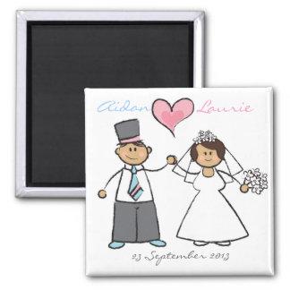 Gerade verheiratet! quadratischer magnet