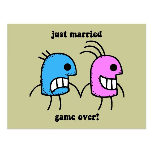 gerade verheiratet postkarten