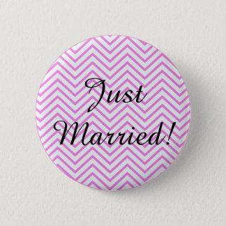 Gerade verheiratet! runder button 5,7 cm