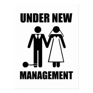 Gerade verheiratet, unter neuem Management Postkarte