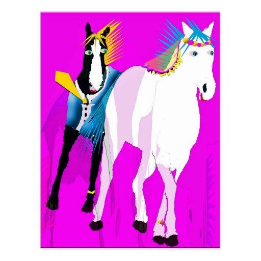 Gerade verheiratet - wunderliche Pferdesammlung Postkarte