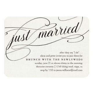 Gerade verheiratete   11,4 x 15,9 cm einladungskarte