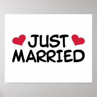 Gerade verheiratete Hochzeit Poster